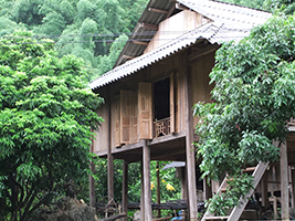 Traditional White Thai stilt house