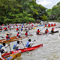 The exciting start of the Ruta Maya with over 80 boats!